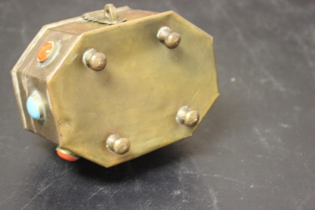A Metal and Torquise Box - 6