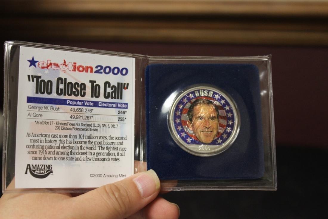 A .999 Pure Silver George Bush 2000 Presidental Coin