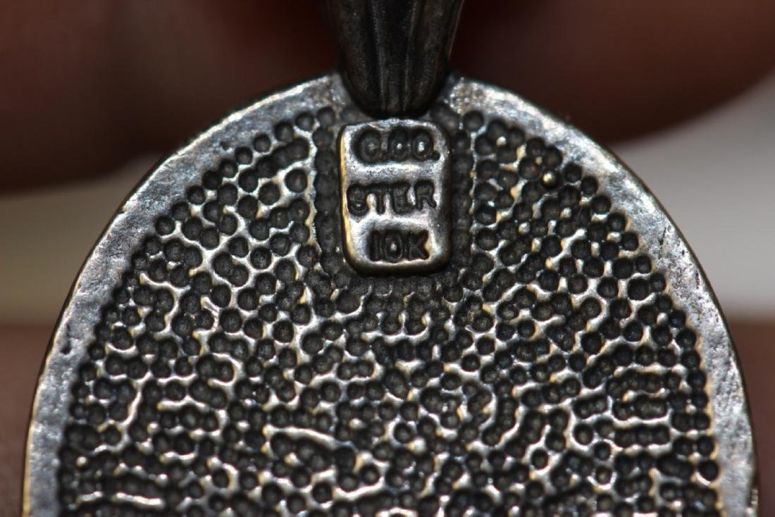 A Black Hill Gold (10Kt) and Sterling Pendant and Chain - 6