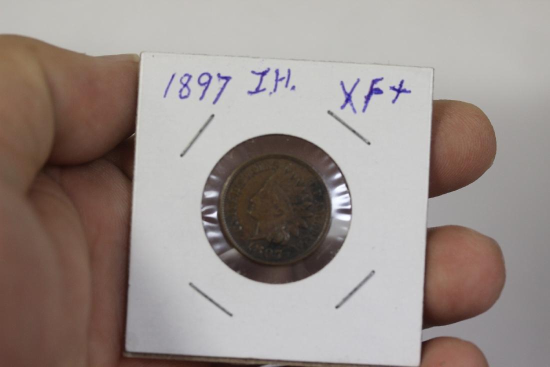 An 1897 Indian Head Cent