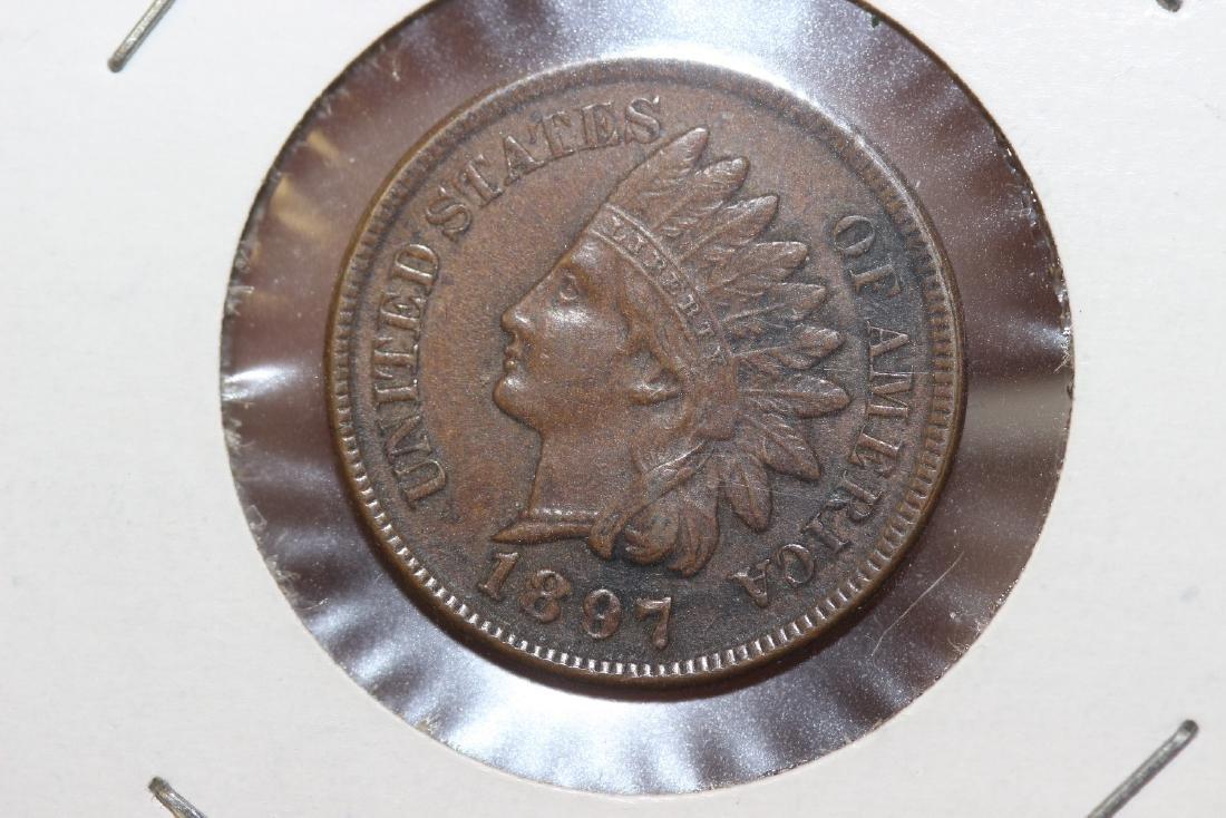 An 1897 Indian Head Cent - 2