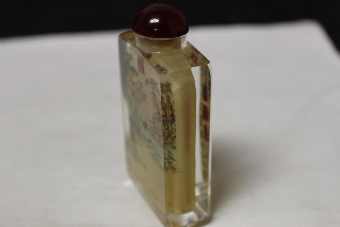 Crystal Chinese Snuff Bottle - 3