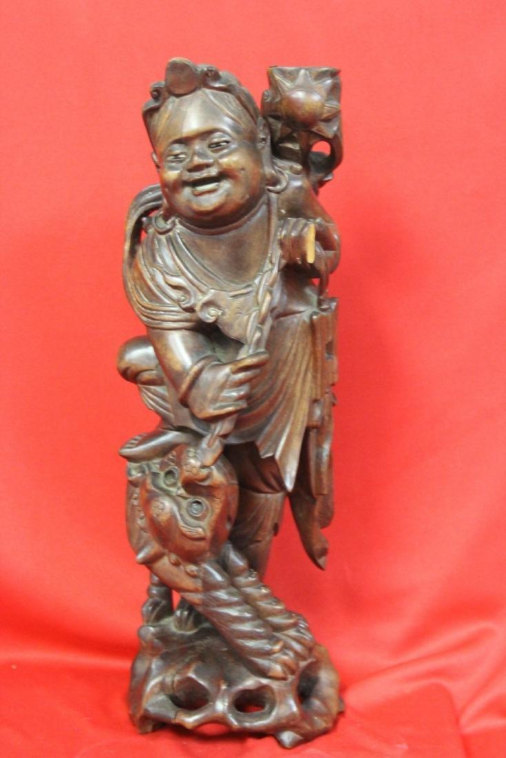 A Chinese Wooden Sculpture