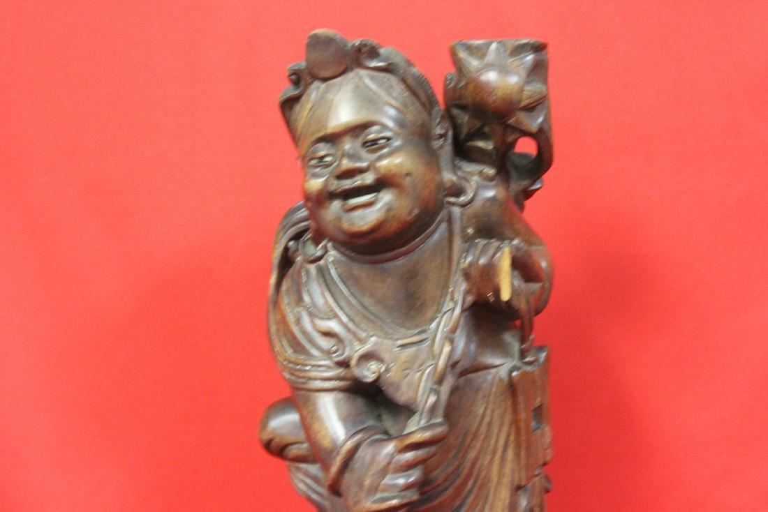 A Chinese Wooden Sculpture - 2