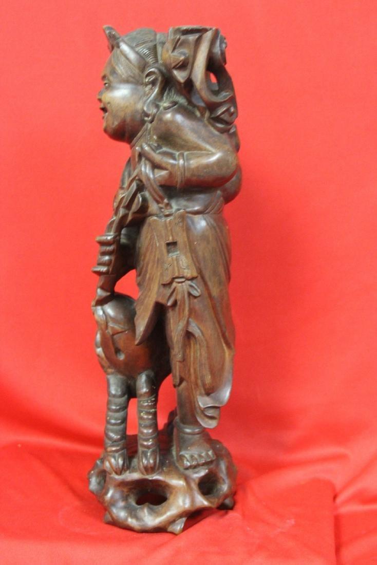 A Chinese Wooden Sculpture - 7