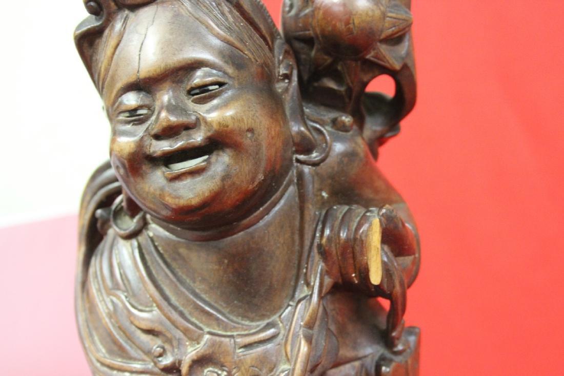 A Chinese Wooden Sculpture - 8