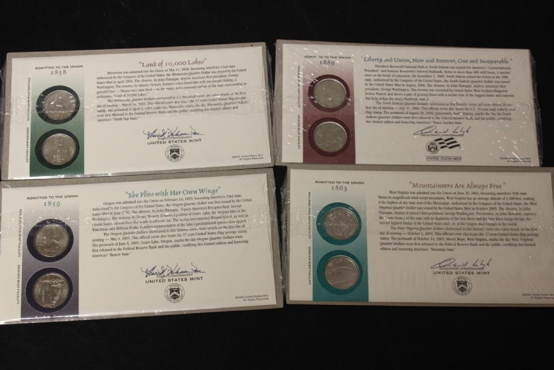 """Lot of 4 Sets """"Admitted to the Union"""" - Quarters"""