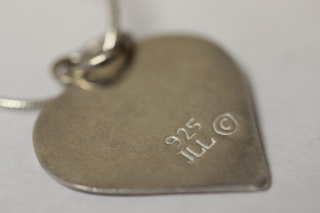 A Signed Sterling Pendant with Chain - 5