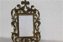 A Cast Iron Picture Frame  Vintage