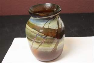 A Signed Sarah Cooper Art Glass Vase