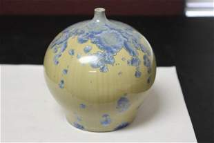A Ceramic Vase Irredesent and Signed