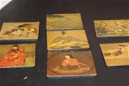 Lot of 7 Altman Coasters Oriental Scene
