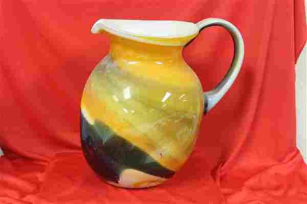 A Large Art Glass Pitcher