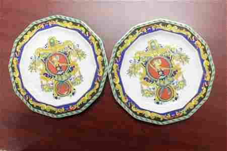 A Pair of Versace LeRoi Loleil Plates