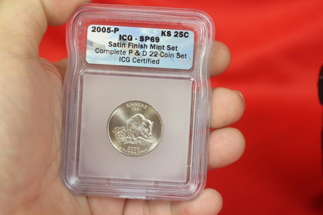 A Graded 2005-P Satin Finish Kansas Quarter