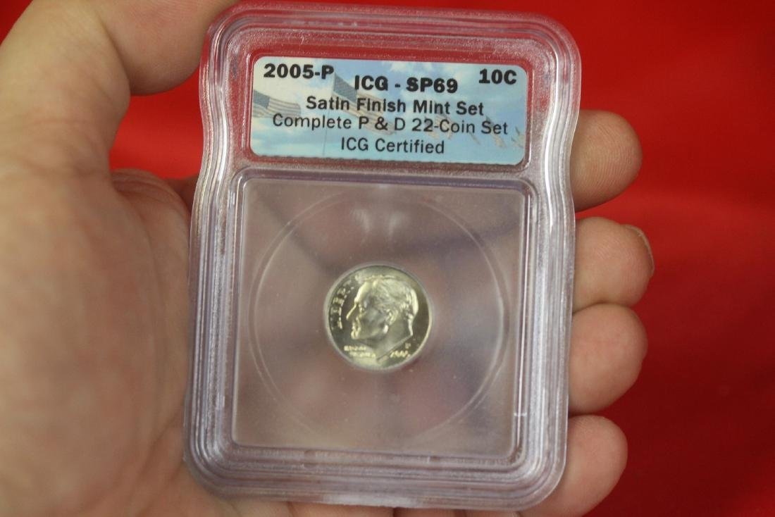 A Graded 2005-P Satin Finish Dime