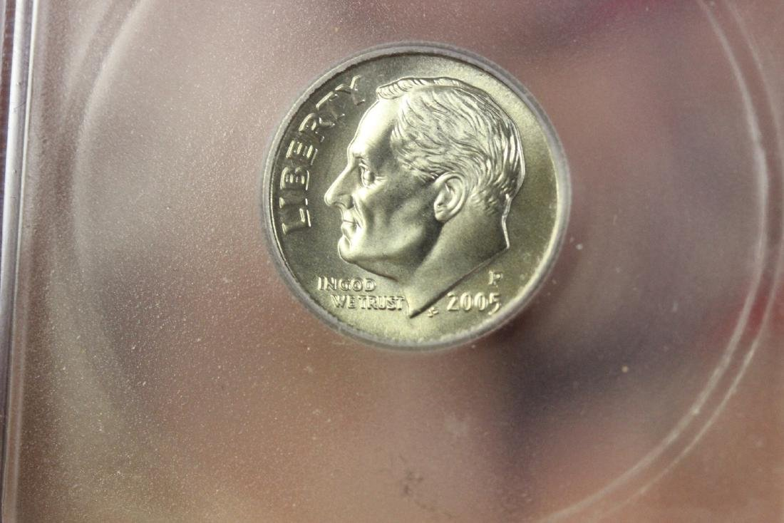 A Graded 2005-P Satin Finish Dime - 6