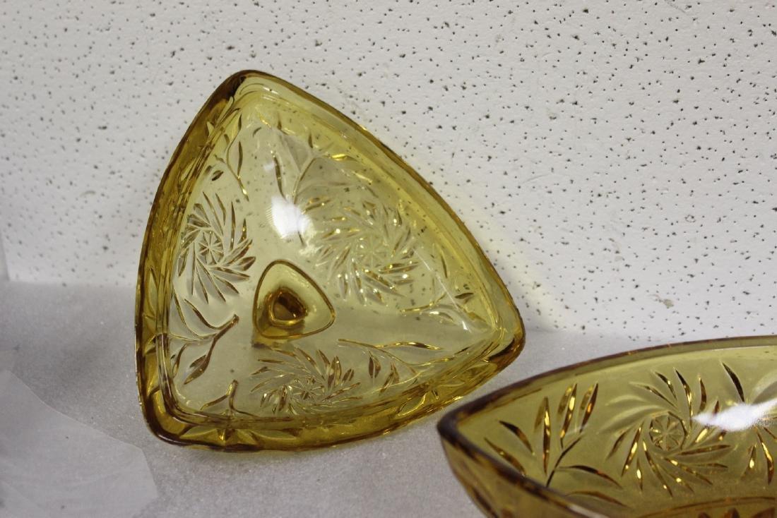 An Amber Glass Candy Dish - 4