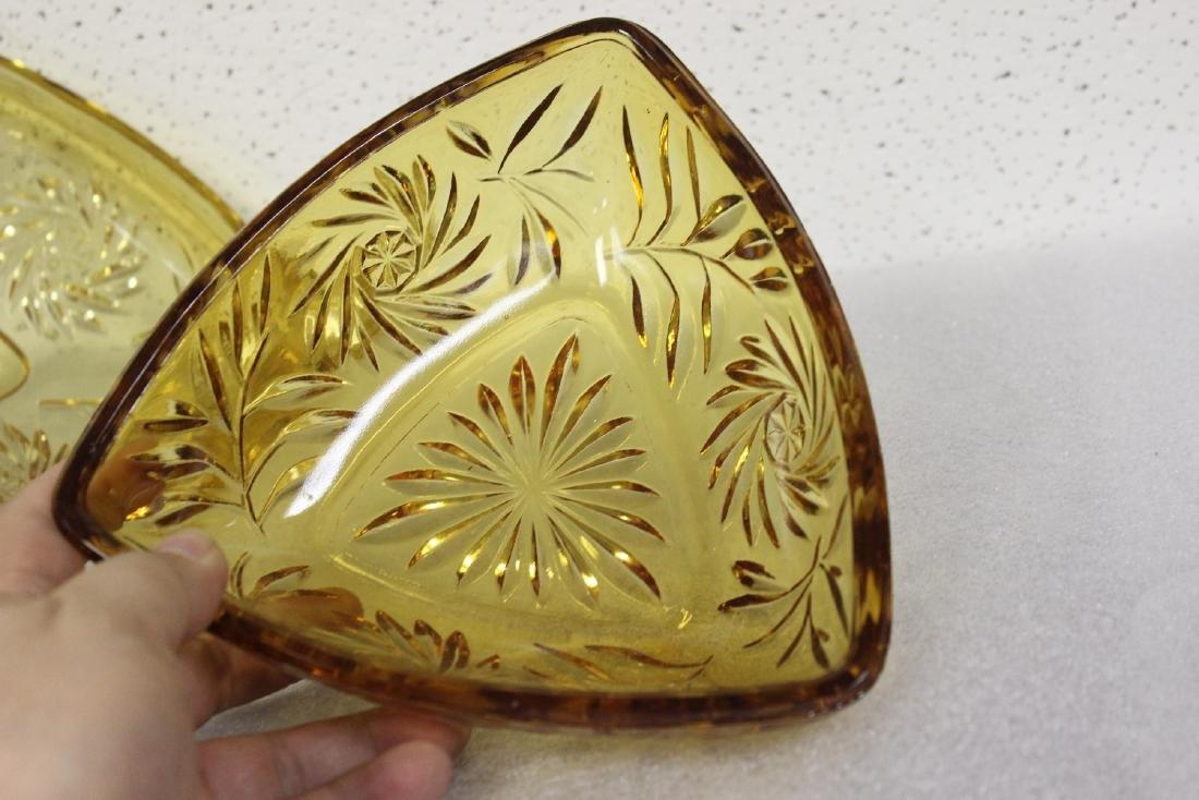An Amber Glass Candy Dish - 6