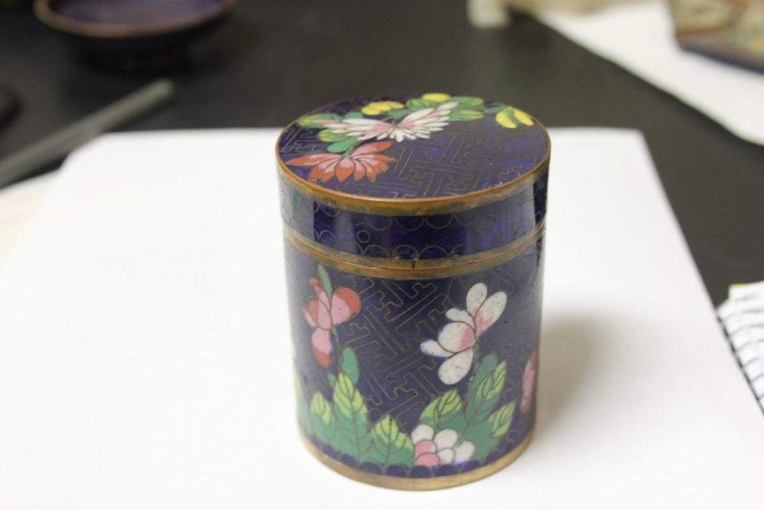 A Chinese Cloisonne Tobacco box or Trinket Box - 2