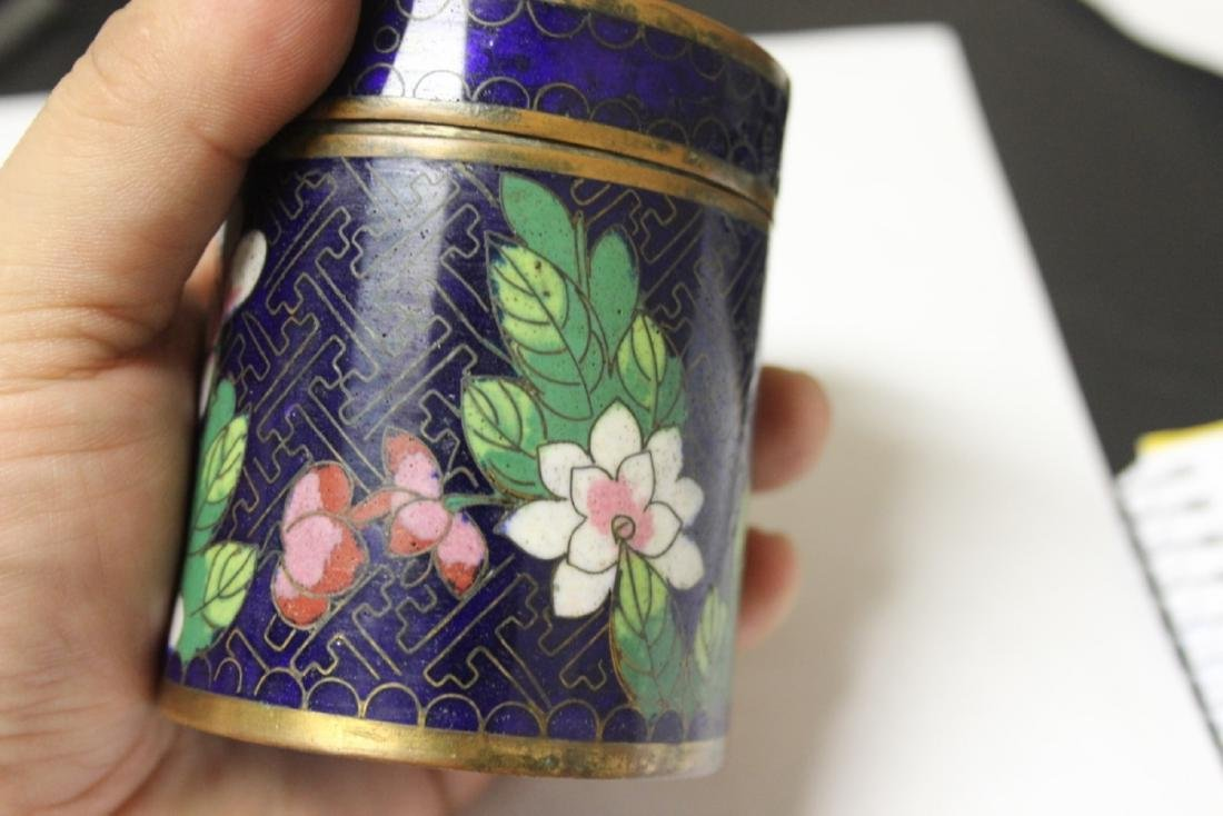 A Chinese Cloisonne Tobacco box or Trinket Box - 6