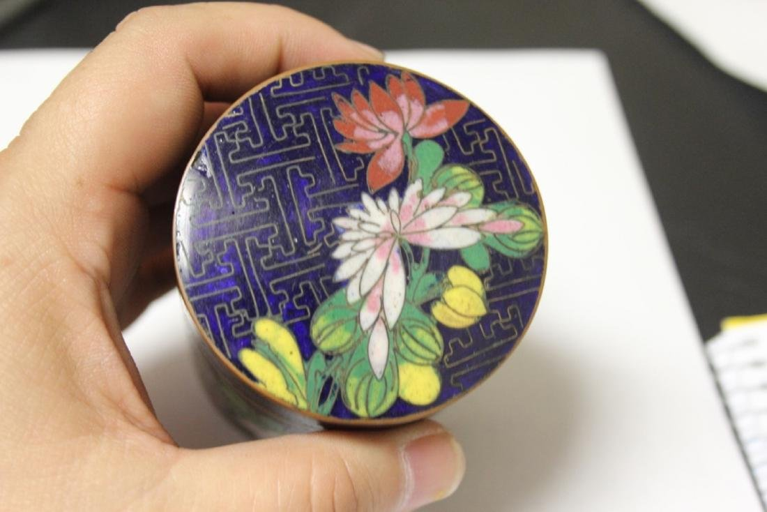 A Chinese Cloisonne Tobacco box or Trinket Box - 8