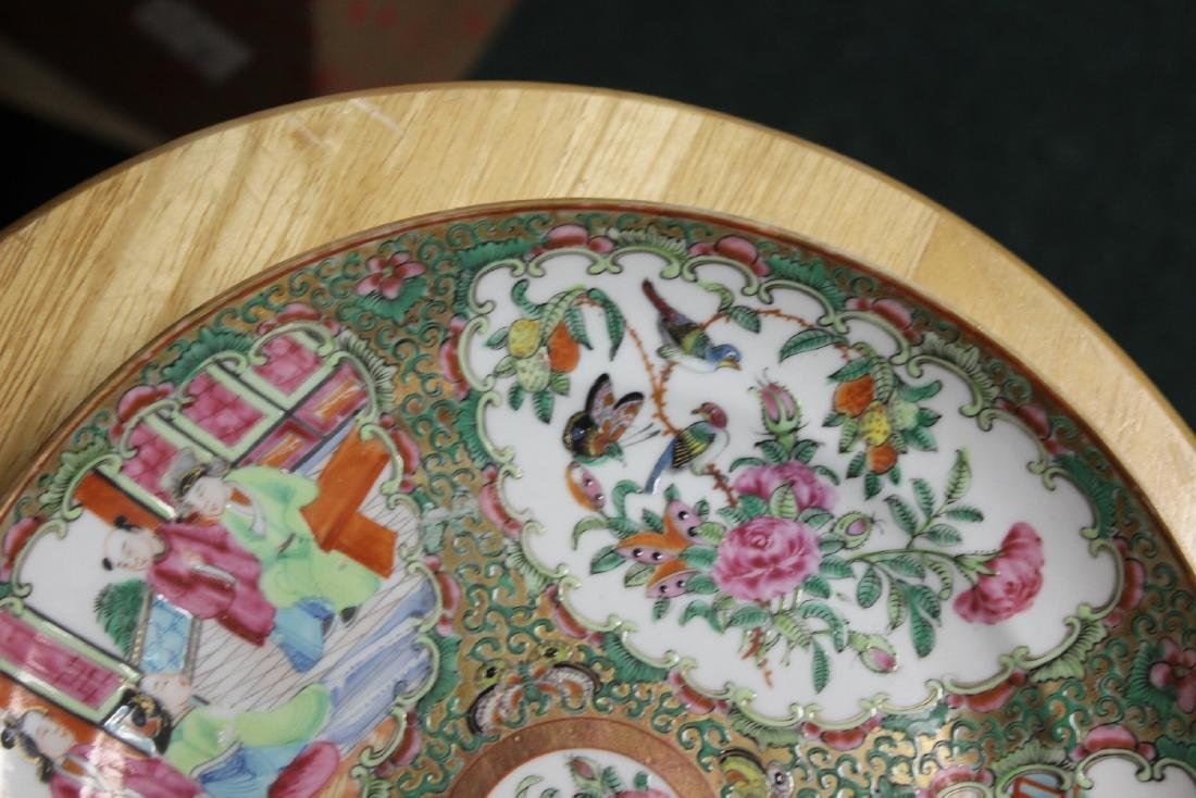An Antique Chinese Rose Medallion Plate - 2