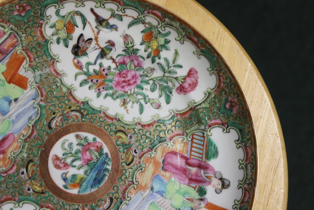 An Antique Chinese Rose Medallion Plate - 3