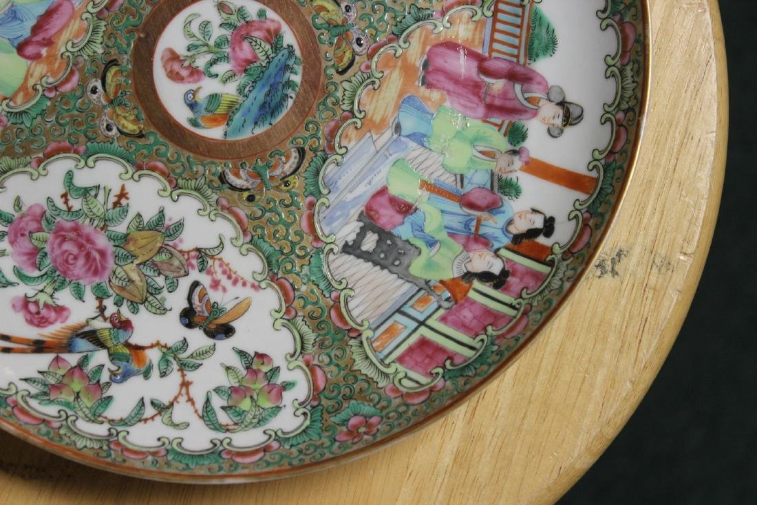 An Antique Chinese Rose Medallion Plate - 7