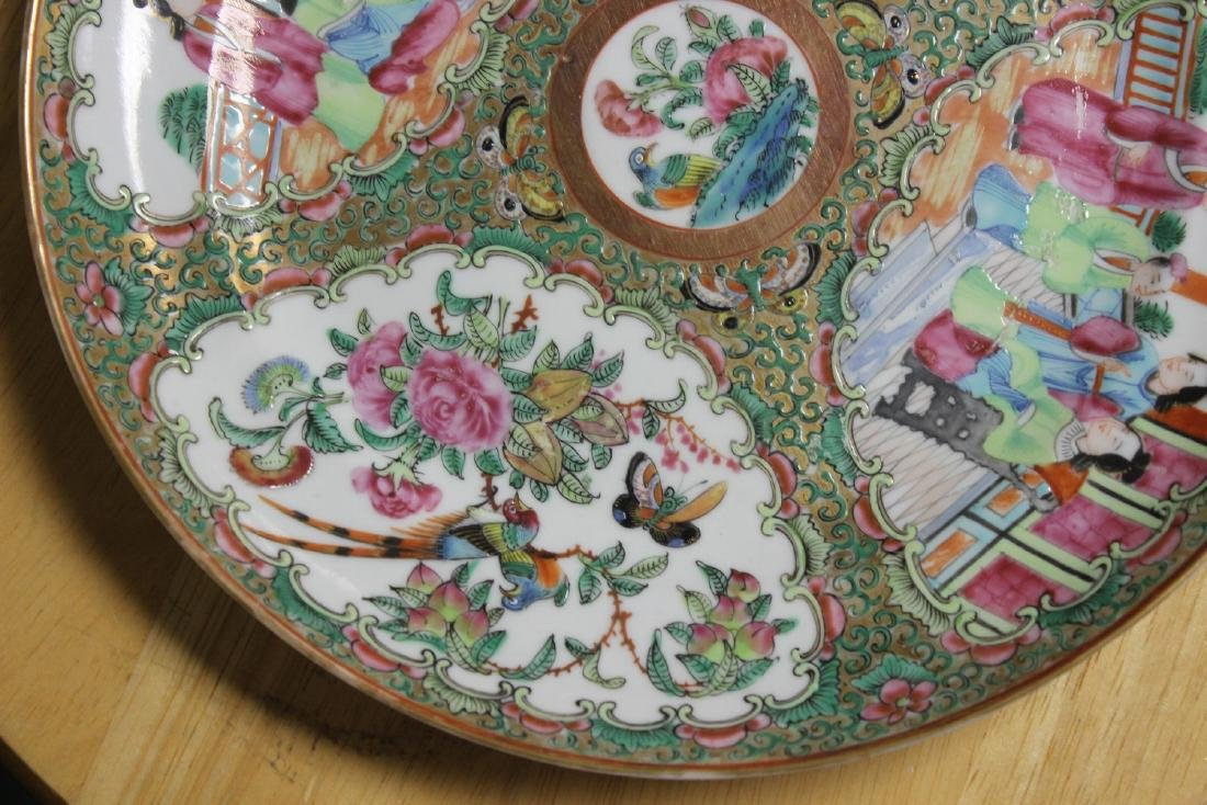 An Antique Chinese Rose Medallion Plate - 8