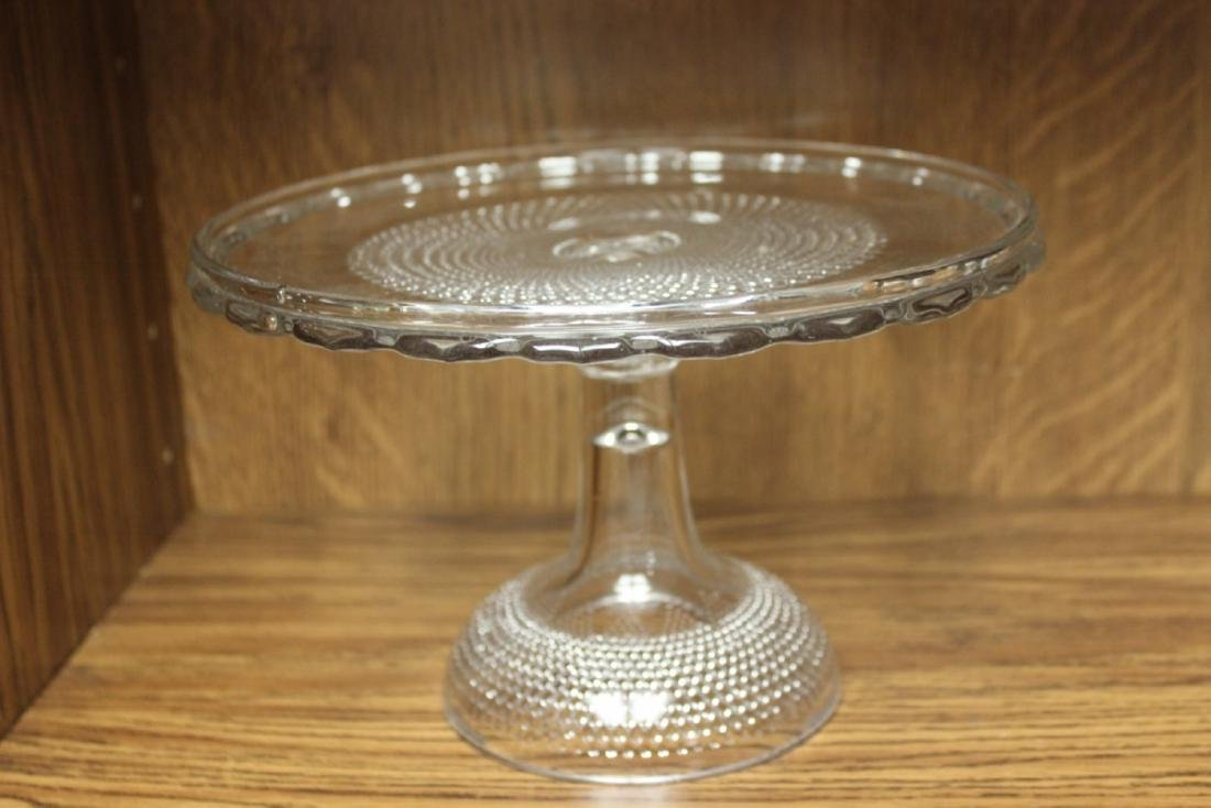 A Cake Server - Glass -Possibly Ducan Miller