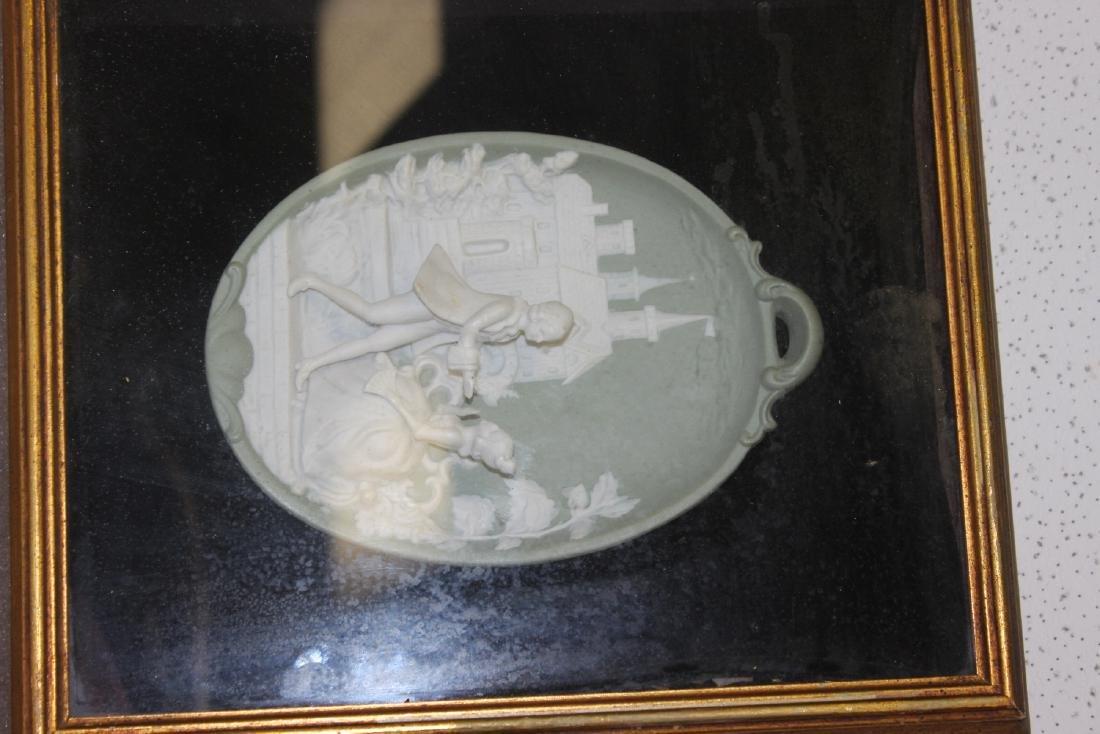A Wedgwood Plate Inside a Shadow Box