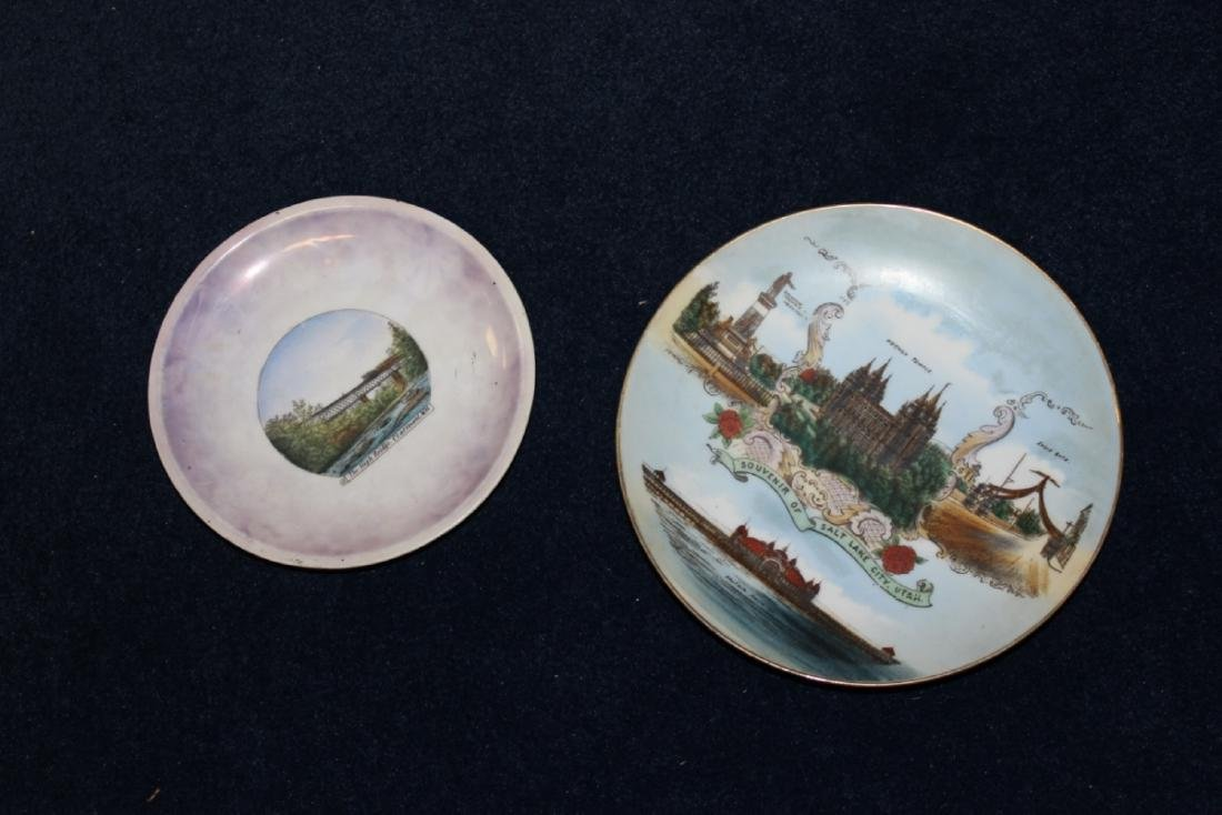 Lot of 2 Advertising Plates - One signed