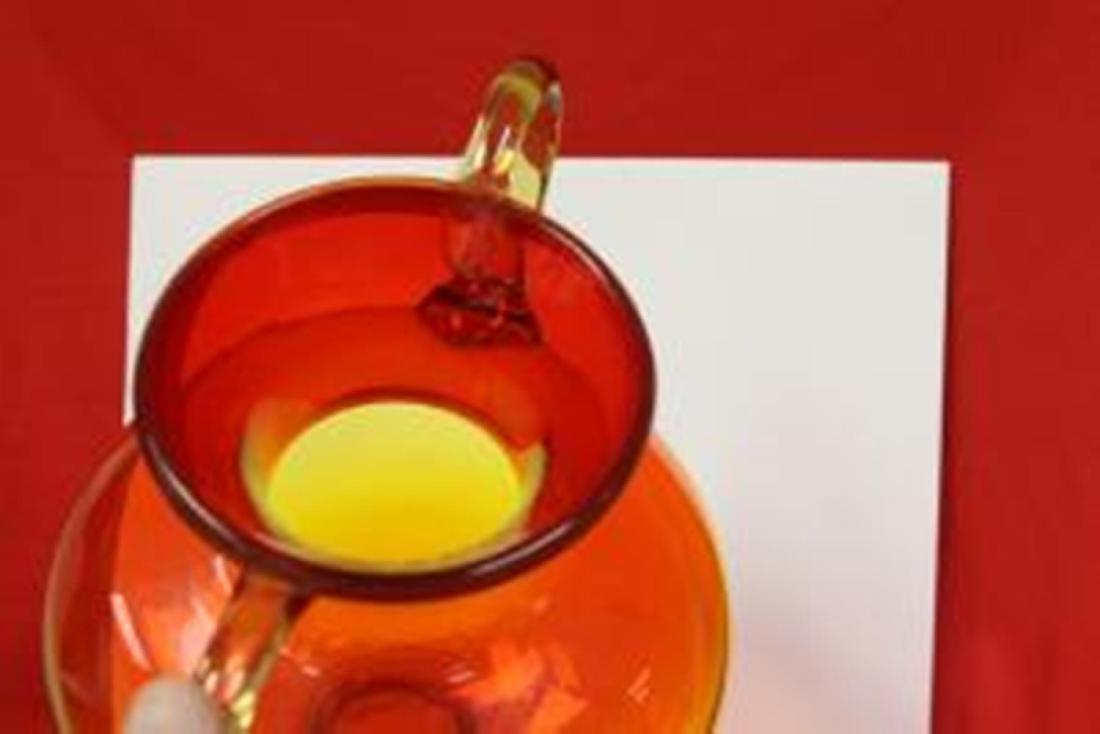 A Hand Blown Glass Vase - 3