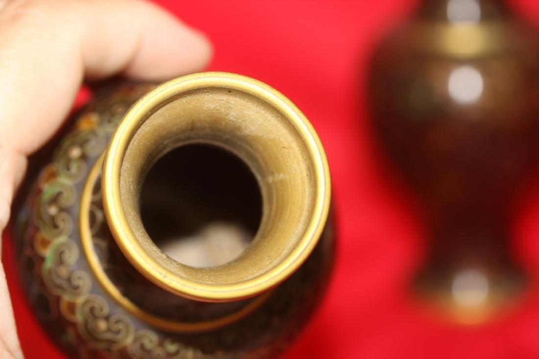 A Pair of Cloisonne Vase - 6