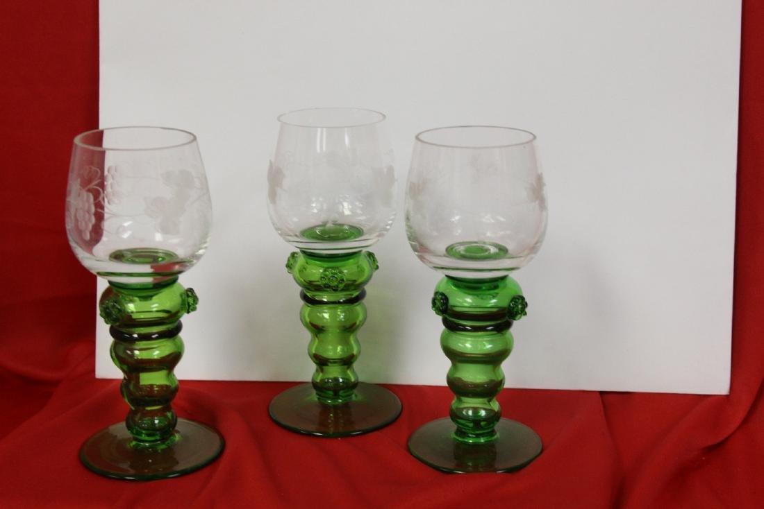 Set of 3 Cut Goblets