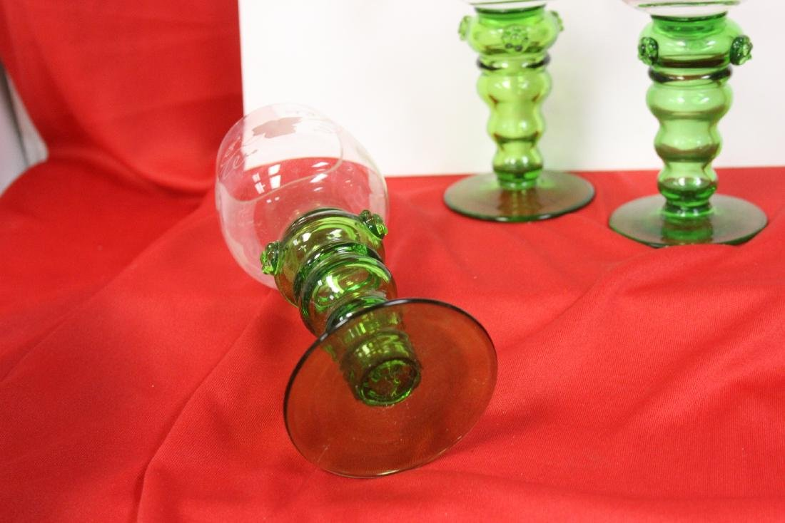 Set of 3 Cut Goblets - 2