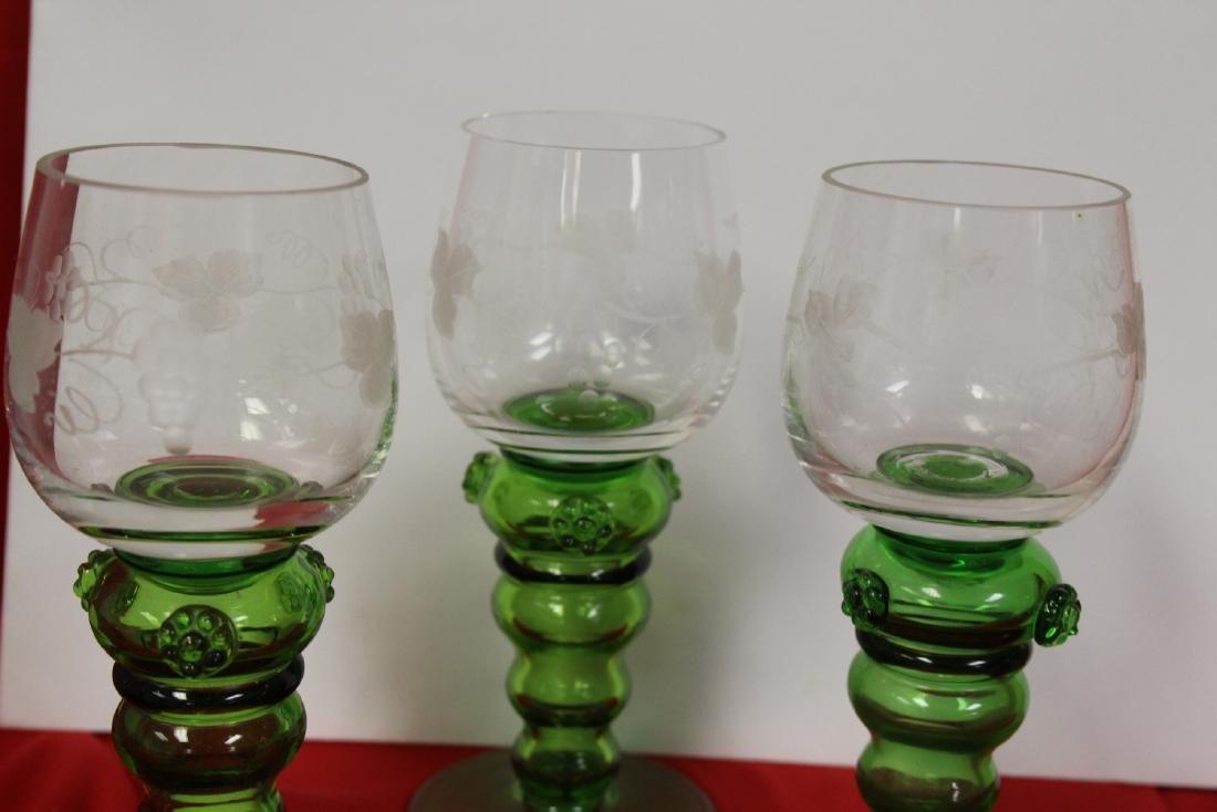 Set of 3 Cut Goblets - 3
