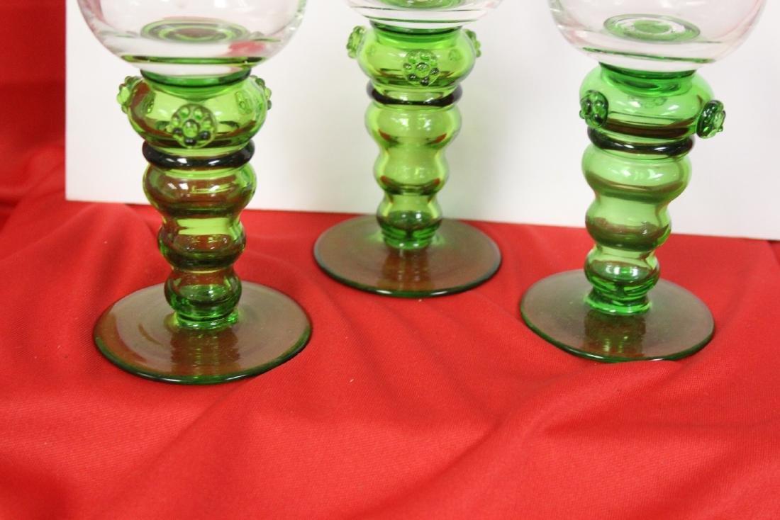 Set of 3 Cut Goblets - 4