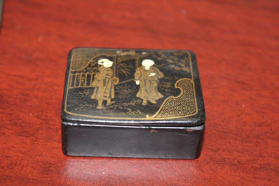 A Chinese Export Black Lacquer Box