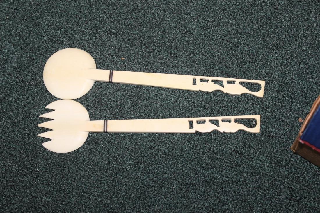 A Pair of Chinese Bone Utensils - 2