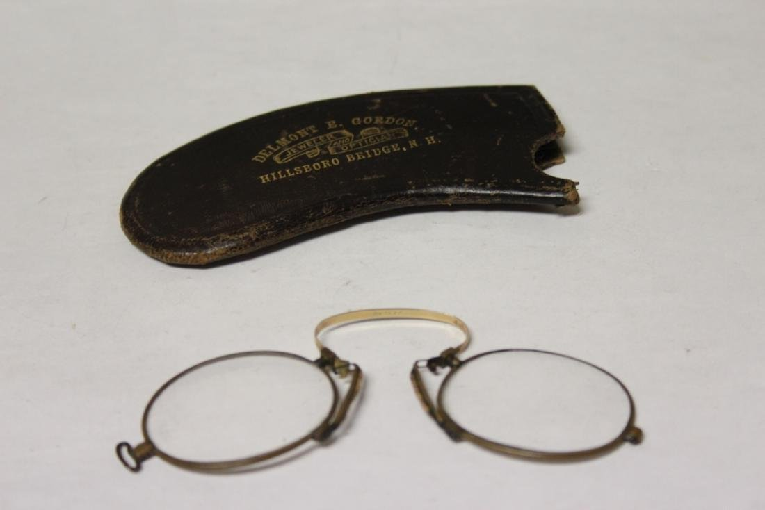 A Vintage Eyeglass with Leather Case