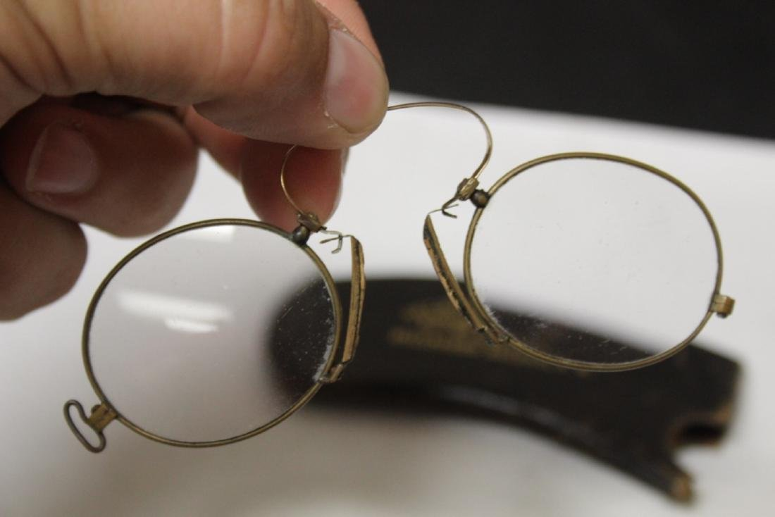 A Vintage Eyeglass with Leather Case - 5