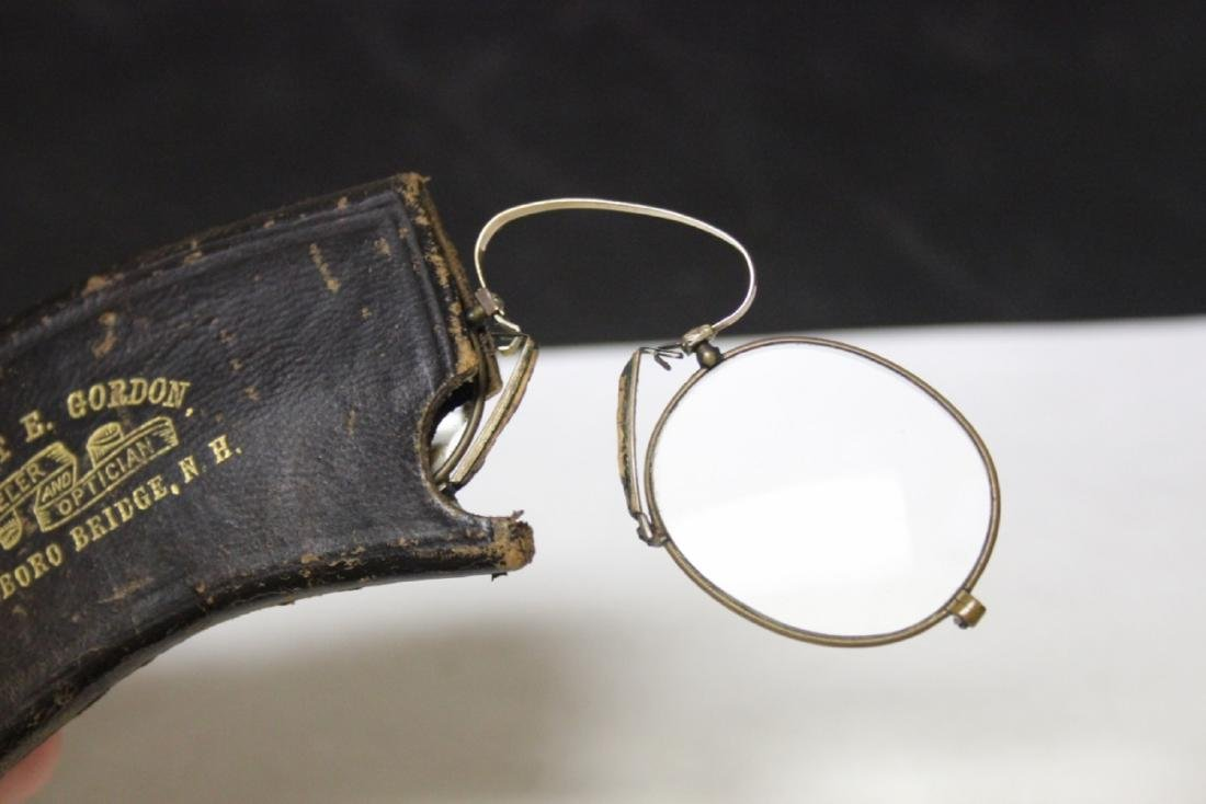 A Vintage Eyeglass with Leather Case - 7