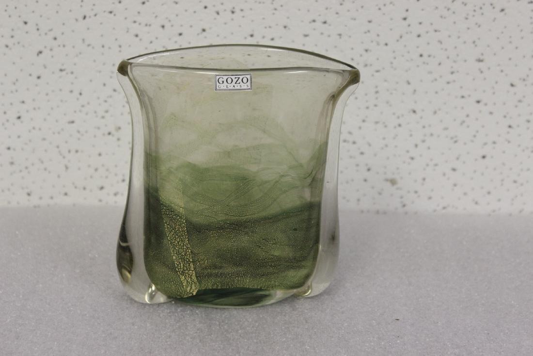 A Gozo Glass Art Glass Vase
