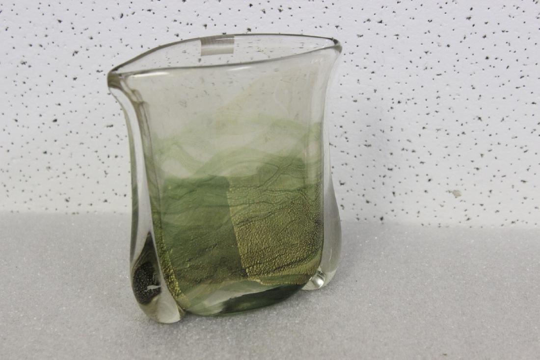 A Gozo Glass Art Glass Vase - 3