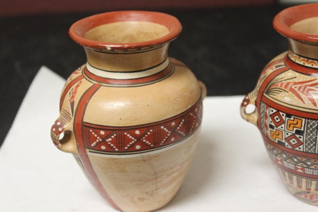 Lot of 2 Clay Jar - 3