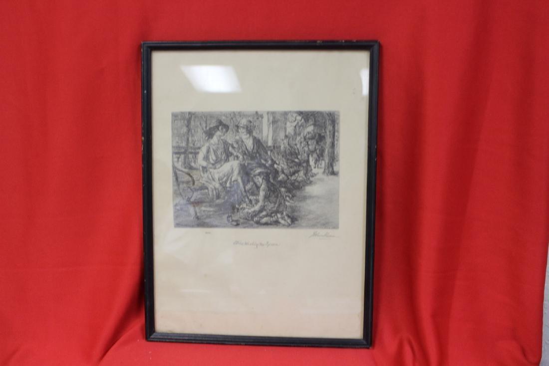 A Print of an Etching John Sloan