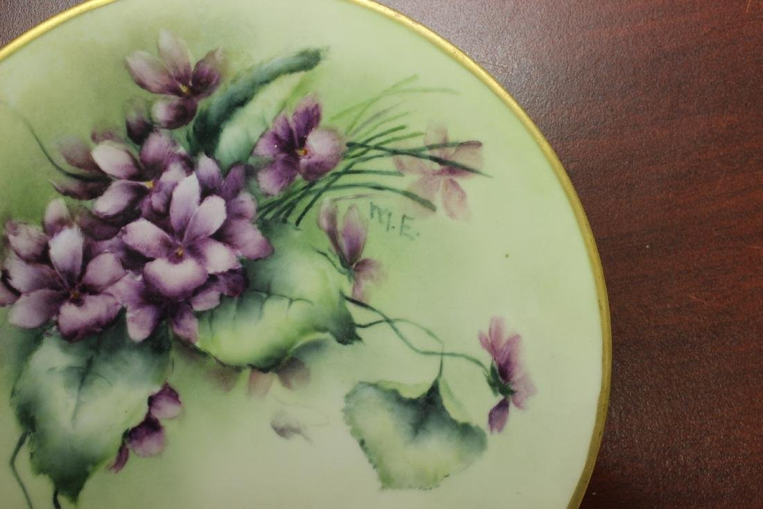 A Signed and Hand Painted Plate - 2