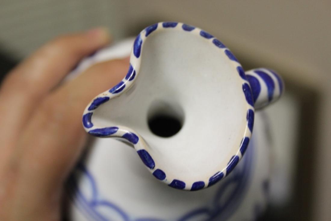A Hand Made Ceramic Spain Ewer - 2